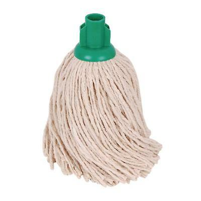 2Work 14oz PY Smooth Socket Mop Green Pack of 10 PJYG1410I