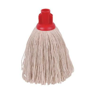 2Work 12oz Twine Rough Socket Mop Red Pack of 10 PJTR1210I