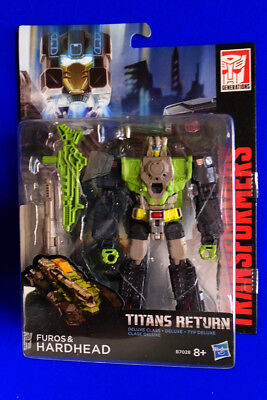 Transformers Generations Titans Return Furos And Hardhead Deluxe Class New