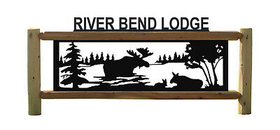 Personalized Moose Sign - Wood Signs