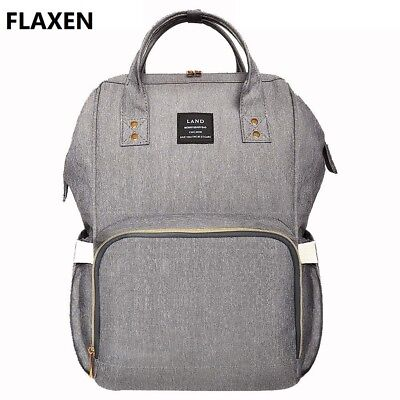 New Land Large Baby Diaper Backpack Mommy Changing Bag Mummy Nappy- Flaxen