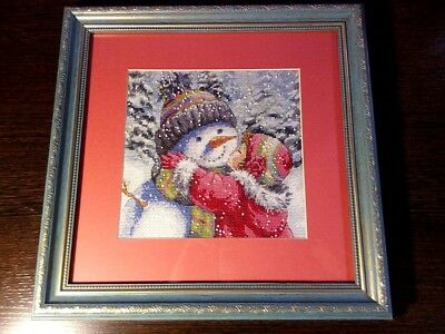 cross-stitch painting  Christmas Snowman