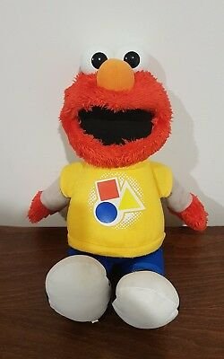 Sesame Street Talking/singing Elmo ~ Shapes And Colors