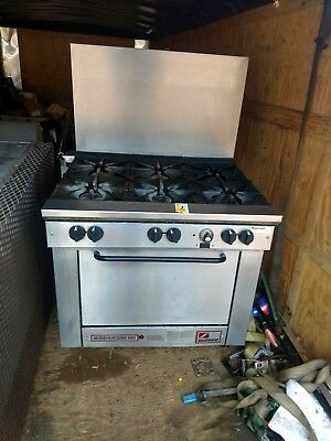 southbend 6 burrner stove with oven propane