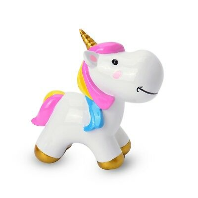 White Ceramic Unicorn Coin Bank