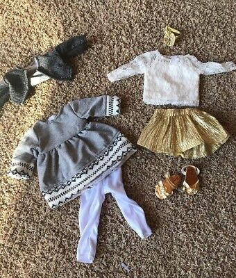 American Girl Doll Size 8piece Set of 18 Inch Doll Clothes Made by Sophia's New
