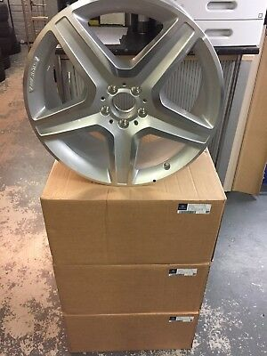 Genuine Mercedes-Benz W166 ML/GLE-Class AMG Silver Alloy Wheel A1664012002 NEW!