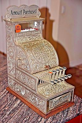 National Cash Register 12 Super Rare Nickel plated Fully restored and functional
