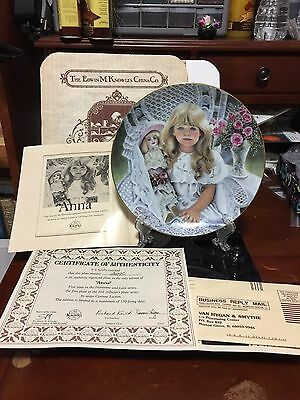 Anna Collector Plate  Edwin M. Knowles China Co. 1989