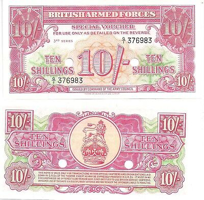 GREAT BRITAIN UK BRITISH ARMED FORCES ND 1956 3rd Series 10 SHILLINGS UNC