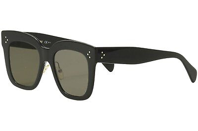 NEW Authentic Celine CL 41444/S Black Oversized Square Sunglasses