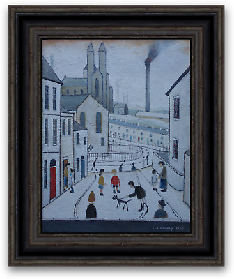 ORIGINAL Oil Painting Northern Impressionist Art Signed and dated L S Lowry 1960