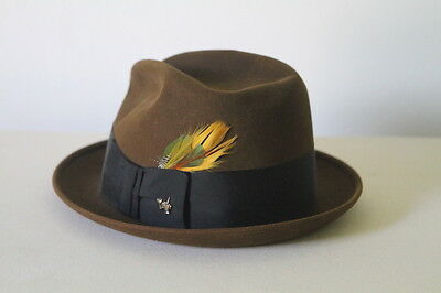 1960s Vintage MENS DUNLAP  FELT HAT size 7 THE DOWNTOWNER