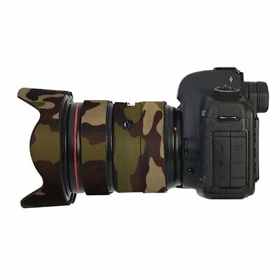 Canon 24-70MM F2.8 IS Mk2 Neoprene Lens Protection Coat Cover Camouflage Green