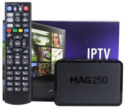 MAG 250 IPTV TV Box with 12 Months IPTV Subscription 2000+ Channels