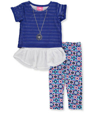 Girls Luv Pink Little Girls' 2-Piece Outfit with Necklace (Sizes 4 - 6X)