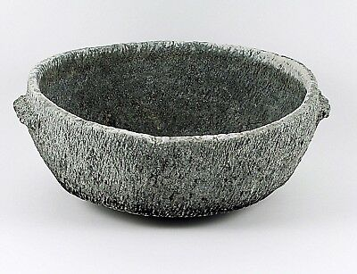 Antique Carved Stone Bowl from Afghanistan #1