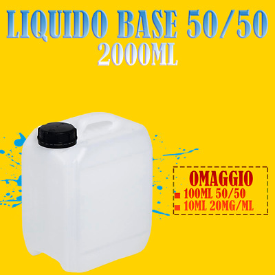 1000ml X 2pz | Liquido sigaretta elettronica 50|50 + 100ml + 1 shot 10ml/20mg