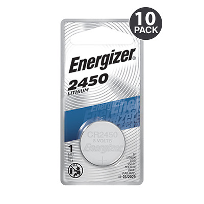 Energizer CR2450 Lithium Battery, 3v ECR2450, 12 PK - Tracking Included!