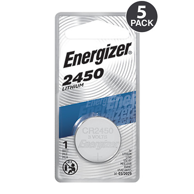 5 Energizer 2450 CR2450 ECR2450 Lithium Batteries - Tracking Included!
