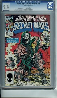 Marvel Super-Heroes Secret Wars #10 Cgc 9.4 White Pages Beatty Art