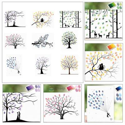 Thumbprint Fingerprint Painting Wedding Tree Signature Guest Book Party +Inkpad