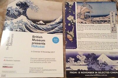 Promotional Movie Flyer For Hokusai Presented By the British Muesuem