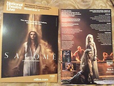 Promotional Movie Flyer For Salome National Theatre Live