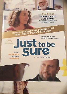 Promotional Movie Flyer For Just To Be Sure