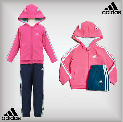 Adidas Baby Girls Winter Q Tracksuit Jacket Pants 9-12-18-24 Months 2-3-4 Years