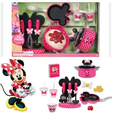 Minnie Mouse Cooking kitchen play Set  Frying Pan cups whisk utensils role play
