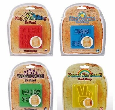Toast Stamps - Happy Birthday - Rise & Shine - Whatever - Peace On Toast - NEW