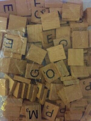 Wooden Scrabble Tiles Individual Numbers Letters  For Crafts Alphabet Wood Game