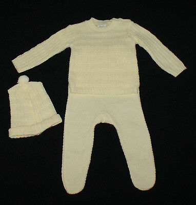 VNTAGE BABY'S 3 PIECE KNITTED SUIT, Made in AUS~ COLLECTORS, REBORN DOLLS, BEARS
