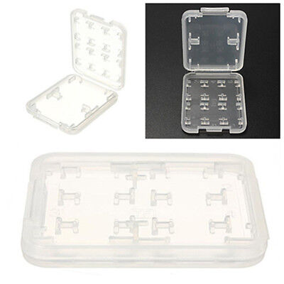 2Pcs 8 slots Micro SD TF SDHC MSPD Memory Card Storage Holder Plastic Case New