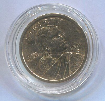2000 P USA One Dollar Coin enclosed in Plastic Case - SACAGAWEA   #SA/3