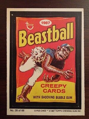 Original Wacky Packages Beastball Soap O-Pee-Chee 1987 Free Shipping