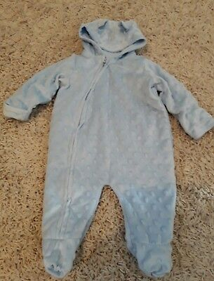 0-3 months George baby body warmer blue good condition