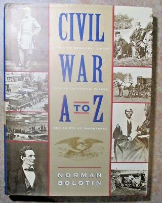 """January Sale-- Civil War History Of Conflict """"from A-To-Z"""" Signed"""