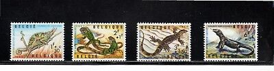 Belgium 1965 Philanthropic Funds. Reptiles of Antwerp Zoo SG 1943/6 MH