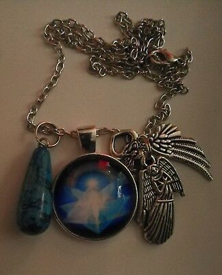 Code 402 Crazy Lace Agate infused Angel Love Necklace Doreen Virtue Practitioner