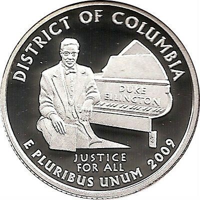 DISTRICT OF COLUMBIA 2009  S Proof Silver State Quarter - DCAM