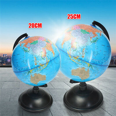 World Globe Map On Stand Large Kids Light Of The Blue Gift Toy Education 20 25cm