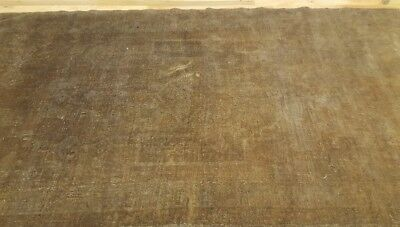 """Sweet Antique 1930-1939s Muted Dyes 3'7""""×6'6"""" Wool Pile Oushak  Rug"""