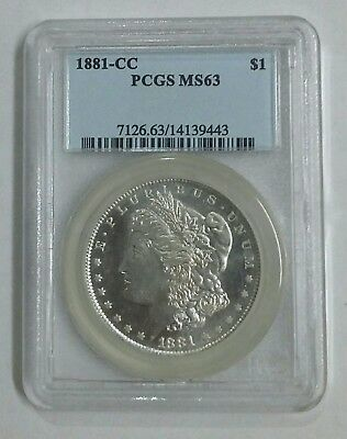 1881 cc Morgan Silver Dollar $1 PCGS MS63 Key Date