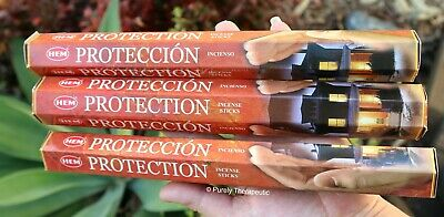 PROTECTION INCENSE STICKS~Hem Hexagonal Pack of 20 Sticks Wicca Pagan Smudge