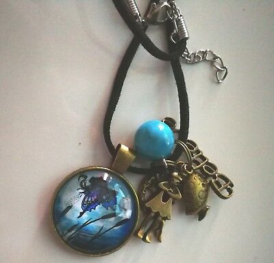 Code 226 Cyan infused Believe in Fairies Necklace Doreen Virtue Practitioner