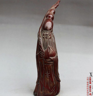 old chinese Rare Collect ox horn cup 005 old man
