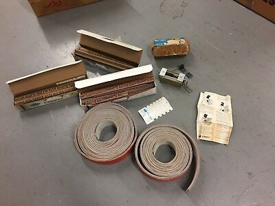 LOT Of Clipper 0-4'' Belt Vise Lacer, Clips, And 30 Ft Of Leather Belt