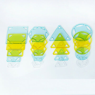 20pcs Triangle/Hexagon/Square/Round Acrylic Quilting Template Patchwork Tool